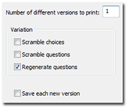 Print multiple versions